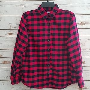 EUC🌻Land's End Buffalo Check Flannel Shirt